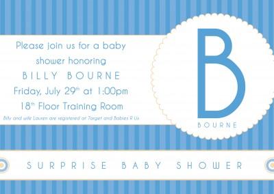 Billy Bourne baby shower