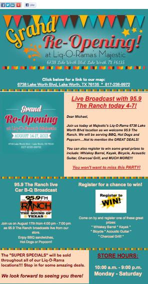 Re-Grand Opening for Liq-O-Rama