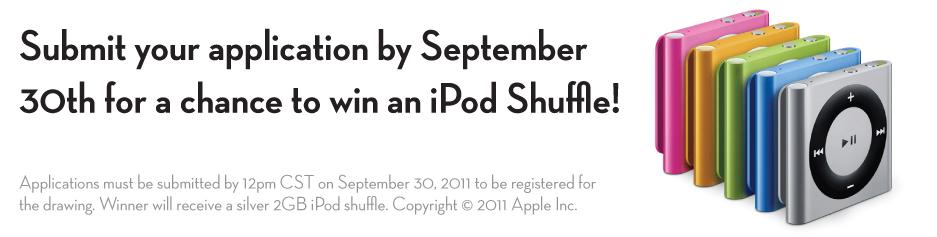iPod Shuffle Giveaway