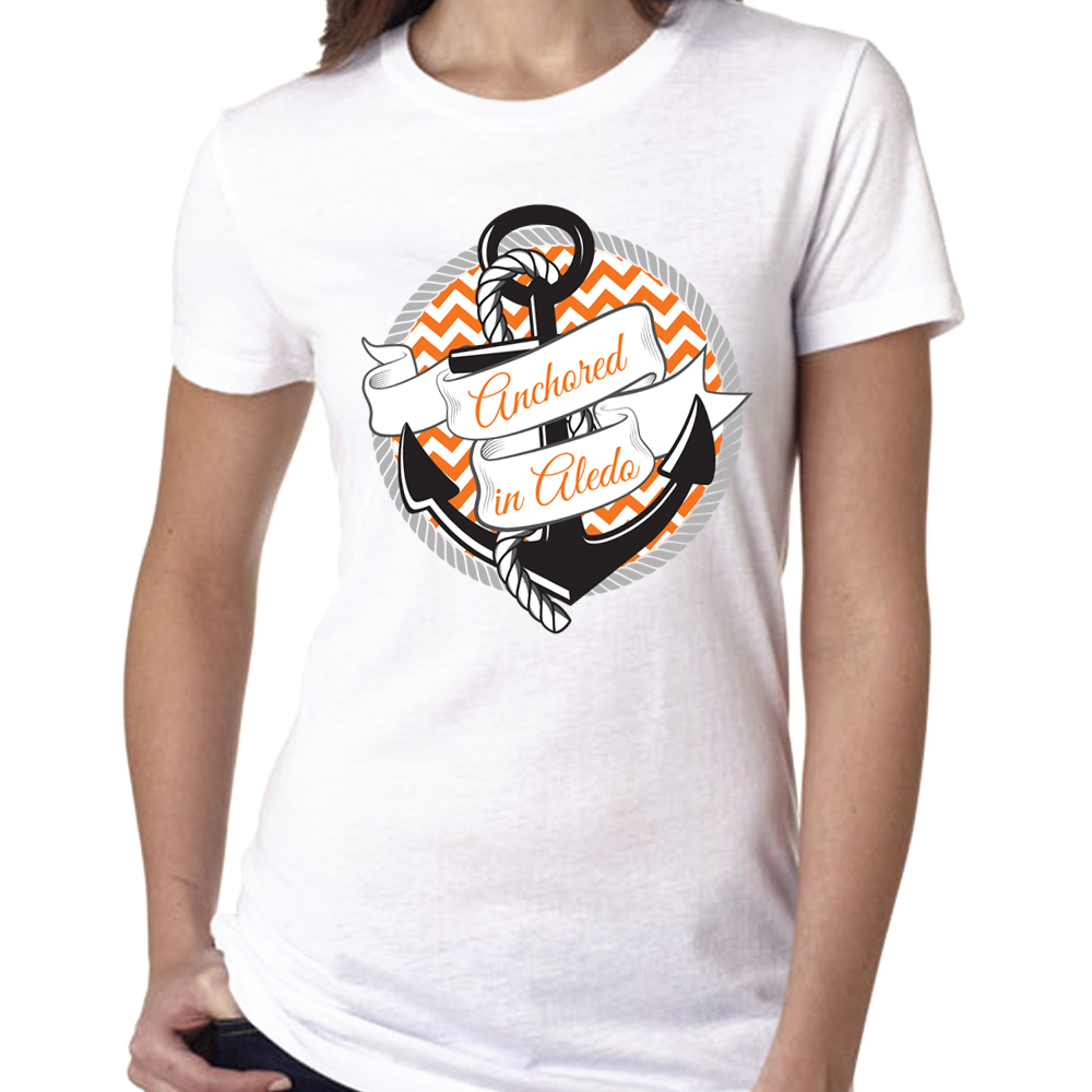 Anchored in Aledo t-shirt design